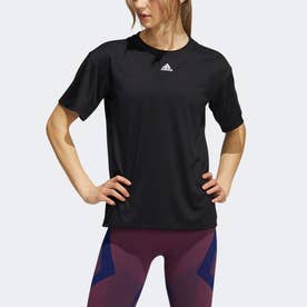 トレーニング スリーストライプ AEROREADY 半袖Tシャツ (ブラック)