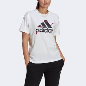 バレンタイン グラフィック 半袖Tシャツ(ジェンダーニュートラル) / Valentine Graphic Tee (Gender Neutral) (ホワイト)