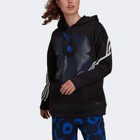 スポーツウェア マリメッコ フリース フーデッドスウェットシャツ (ブラック)