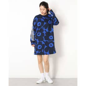 レディース ワンピース WMARIMEKKOスウェットドレス H24182 (ブルー)