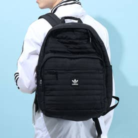 Quilted Trefoil Backpack (Black)