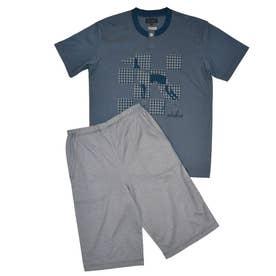 アダバット リラックスウェア アンダーウェア 半袖ハーフパンツニットパジャマ (グリーン)