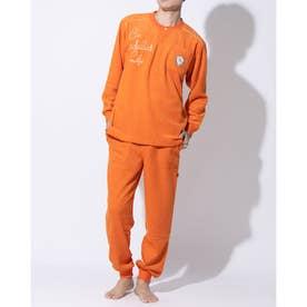アダバット リラックスウェア アンダーウェア 長袖ニットパジャマ (オレンジ)
