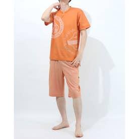 アダバット リラックスウェア アンダーウェア 半袖ニットパジャマ (オレンジ)