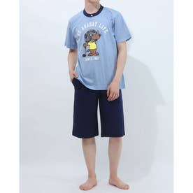 アダバット リラックスウェア アンダーウェア 半袖ニットパジャマ (ブルー)