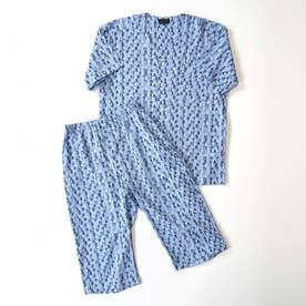 アダバット リラックスウェア アンダーウェア 衿なし半袖七分袖パジャマ (コン)