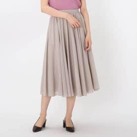 【洗える】サーキュラーボイルスカート (ライトグレー)