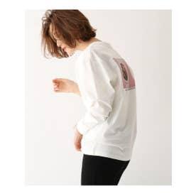 【コラボアイテム】YUJI UENO(上野裕二)フォトプリント長袖Tシャツ (ホワイト(009))