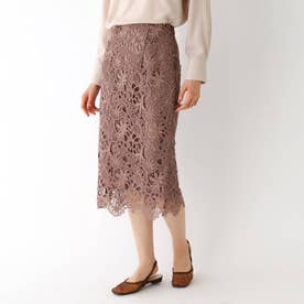 フラワーレースタイトスカート (サンドベージュ)