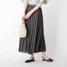 変形プリーツスカート (ガンメタリック)
