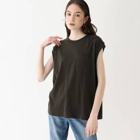 Leeコラボ 刺繍ノースリーブTシャツ【WEB限定サイズ】 (チャコールグレー)