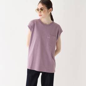 Leeコラボ 刺繍ノースリーブTシャツ【WEB限定サイズ】 (ライトパープル)