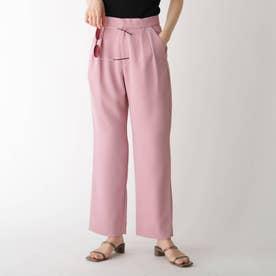 2タックドビーストレートパンツ【WEB限定サイズ】【GISELeコラボ商品】 (ピンク)