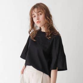 切替デザインドルマンTシャツ【WEB限定サイズ】 (ブラック)