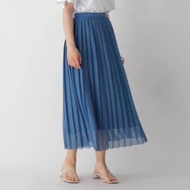 メッシュプリーツスカート (ブルー)
