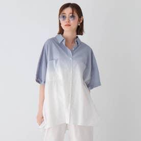 グラデコットンシャツ (ライトブルー)