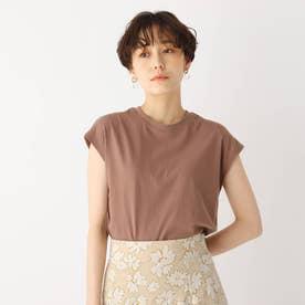 コットン天竺フレンチTシャツ【WEB限定サイズ】 (キャメル)