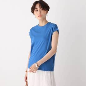コットン天竺フレンチTシャツ【WEB限定サイズ】 (ブルー)