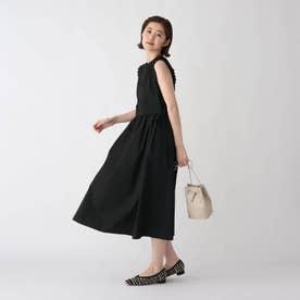 レイヤード風フィット&フレアワンピース【WEB限定サイズ】 (ブラック)