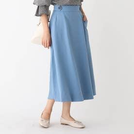 フレアナロースカート (ブルー)