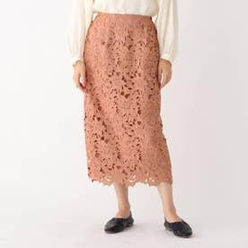 フラワーレースタイトスカート (キャメル)