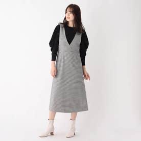 ハウンドトゥースジャンパースカート【WEB限定サイズ】 (ブラック)
