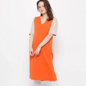 【ハンドウォッシュ】サイドベルトニットジレ (オレンジ)