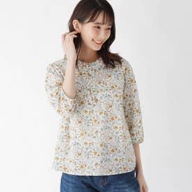 【ハンドウォッシュ】フリルカラーフラワーシャツ (ホワイト)