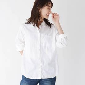 【ハンドウォッシュ】コットン(綿)ツイルシャツ (ホワイト)