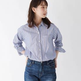【ハンドウォッシュ】コットン(綿)ツイルシャツ (ブルー)