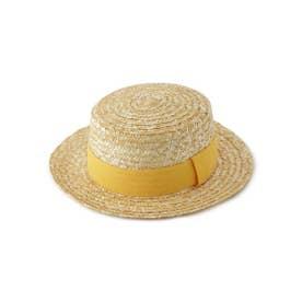 カラーリボンカンカン帽 (イエロー系)