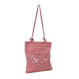 eyeye CHECK STRING BAG (RED)