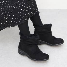 軽量ぽかぽか防水防滑ブーツ (黒スエード)