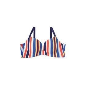 Colorful Stripe 超盛ブラ(R) 単品ブラジャー (ネイビー/NV)【返品不可商品】