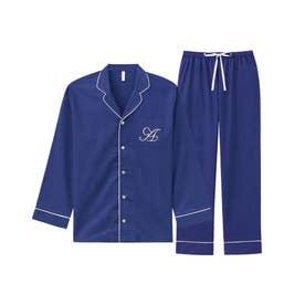 ペア長袖シャツパジャマ上下セット(男女兼用サイズ) (クラシカルネイビー/NV57)