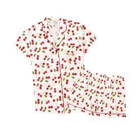 半袖 シャツパジャマ 上下セット (レッド/RE)【返品不可商品】