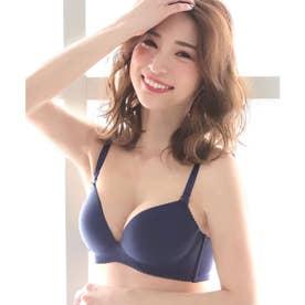 ノンワイヤー 美胸ブラ 単品ブラジャー 【返品不可商品】 (ネイビー/NV)