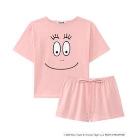 【ワンマイルウェア】バーバパパ Tシャツ 上下セット ピンク/PI 【返品不可商品】