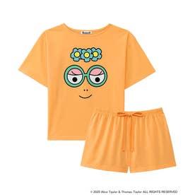 【ワンマイルウェア】バーバパパ Tシャツ 上下セット オレンジ/OR 【返品不可商品】