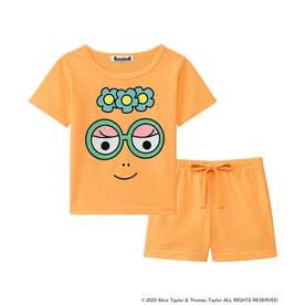 バーバパパ Tシャツ Kids 上下セット (オレンジ/OR)