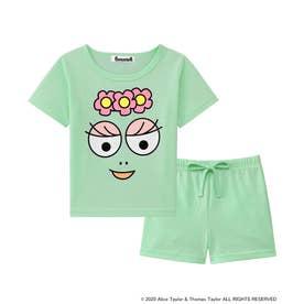 バーバパパ Tシャツ Kids 上下セット (メロン/ME)
