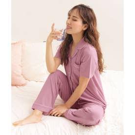 ひんやりタッチパジャマ 上下セット (PI-ピンク)