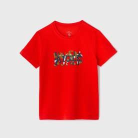 吸水速乾 UVカット テディ Tシャツ (レッド)