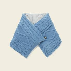 ミックスニットスカーフ (ブルー)