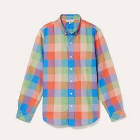 HW カラフルチェックシャツ (グリーン)