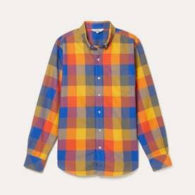 HW カラフルチェックシャツ (ネイビー)