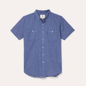 ミニチェックシャツ (ネイビー)