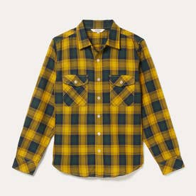 HW フランネルチェックシャツ (イエロー)