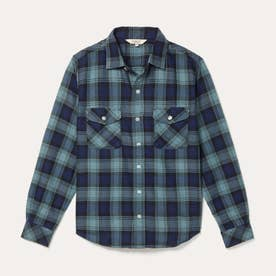 HW フランネルチェックシャツ (ブラック)