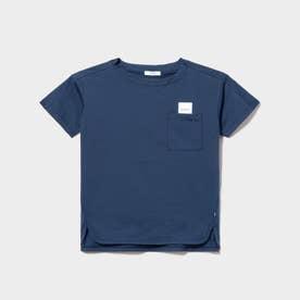 吸水速乾 デザインポケット ロゴ Tシャツ (ブラック)